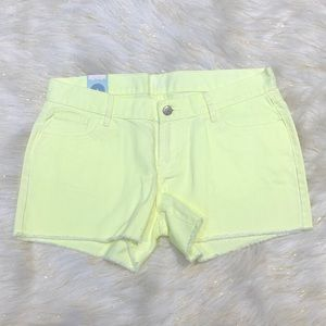 Old Navy Neon Geenish-Yellow Diva Shorts 6 NWT